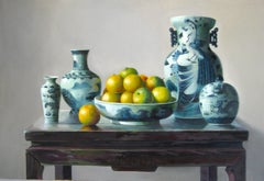 Oranges - Original Oil on Canvas by Zhang Wei Guang - 1998