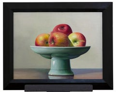 Still Life with Apples - Oil on Canvas by Zhang Wei Guang (Mirror) - 2000