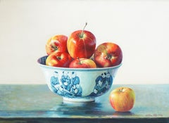 Still Life with Apples - Original Oil on Canvas by Zhang Wei Guang - 2000