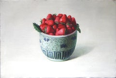 Strawberries - Original Oil on Canvas by Zhang Wei Guang - 2008
