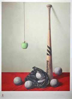 PRICE - Baseball, Olympic Games - Original Lithograph by Zhang Wei Guang - 2008