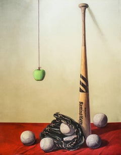 Baseball, Original Lithograph by Zhang Wei Guang -  2008