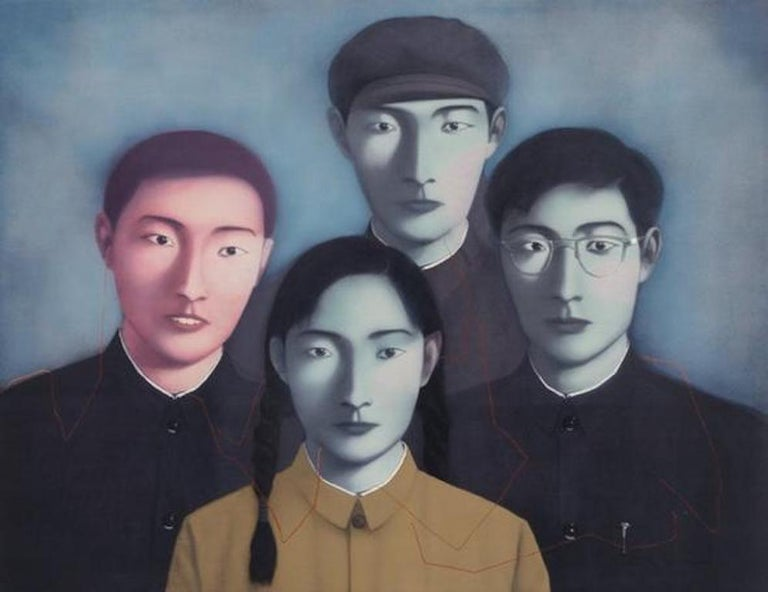 <i>Big Family No. 1<i>, 2006, by Zhang Xiaogang, offered by Upsilon Gallery