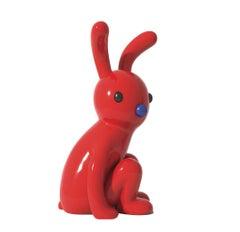 Red Rabbit Sculpture Out Door Sculpture by Zhang Zhanzhan