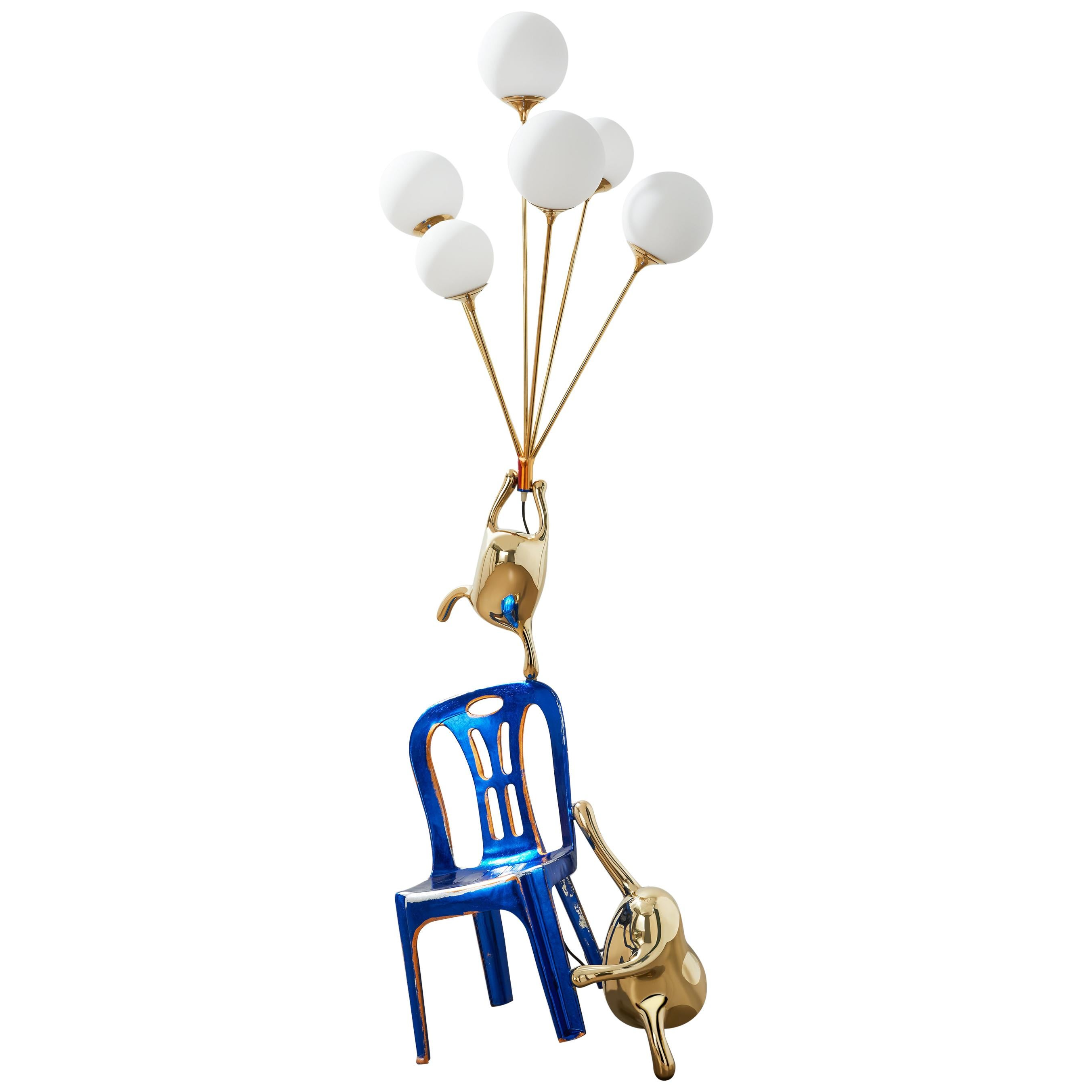 Zhipeng Tan, Brass Floor Lamp, 'Up,' TanTan Collection