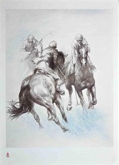Equestrian - Vintage Poster - Original Offset by  Zhou Zhiwei - 2008