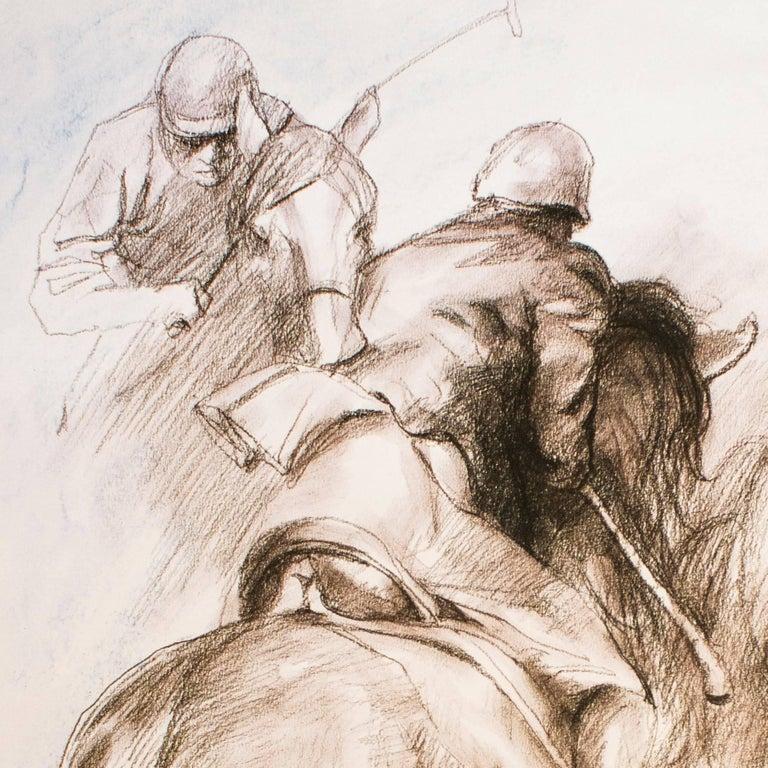 Equestrian - Original Lithograph by Zho Zhiwei - 2008 - Print by Zhou Zhiwei
