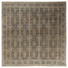 Ziegler, Hand-Knotted Square Rug