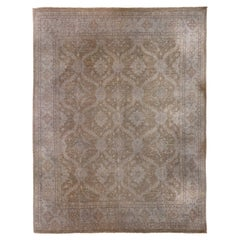 Ziegler Style Pakistan Large Brown Rug Washed, Wool Hand Knotted, circa 2000