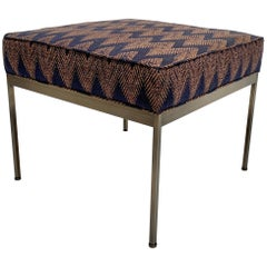 Zig Zag and Antiqued Brass Paul Ottoman by Lawson-Fenning, in Stock