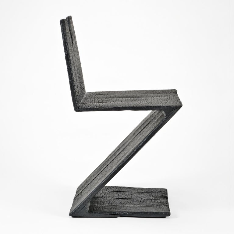 Blackened Zig Zag Chair 2004 from