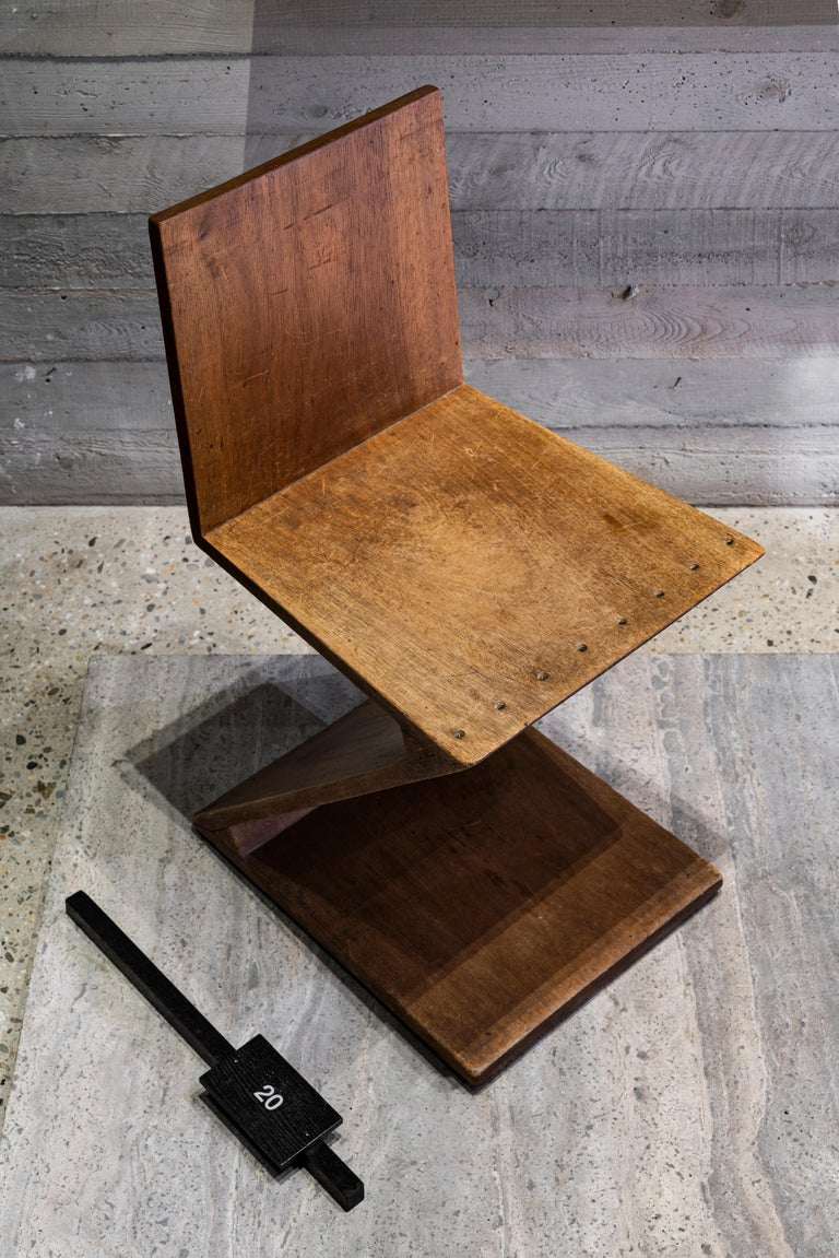 Zig-Zag Chair by G. Rietveld For Sale 8