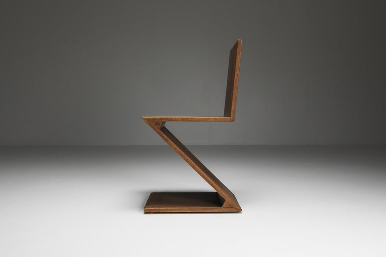 20th Century Zig-Zag Chair by G. Rietveld For Sale