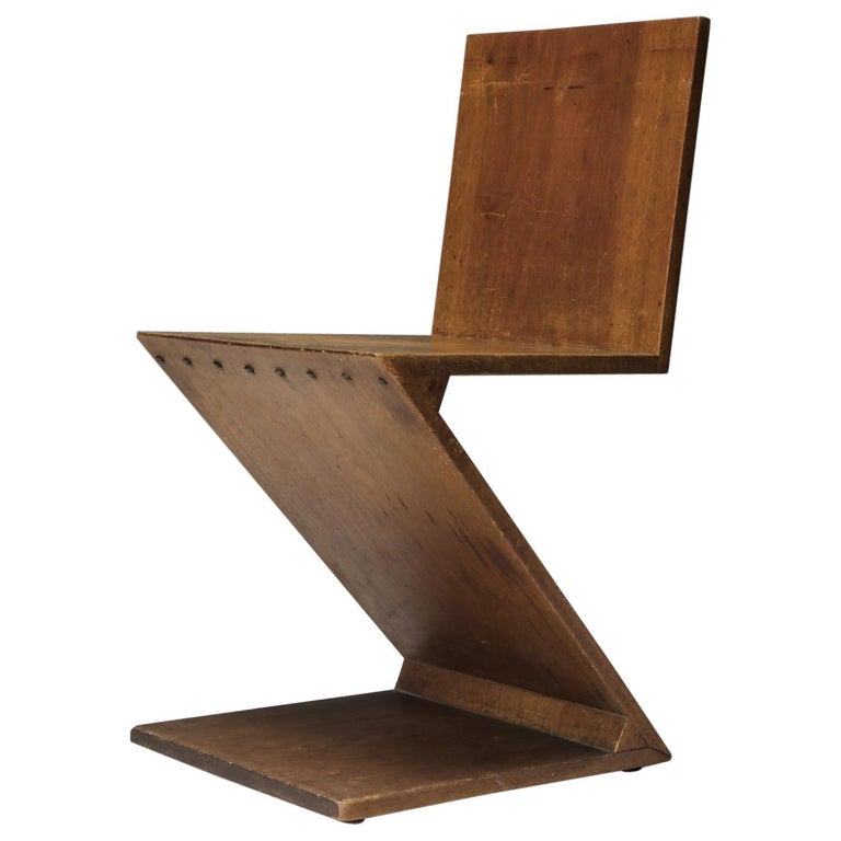 Zig-Zag Chair by G. Rietveld For Sale
