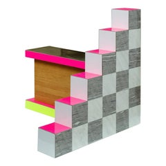 """""""Ziggurat 3"""" by Russell Bamber, 2018, Carrara, Alicante and Colored Laminate"""