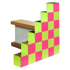 """""""Ziggurat 4"""" by Russell Bamber 2018, Fluorescent and Colored Laminates"""