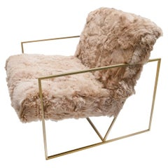 Ziggy Chair by JG Switzer in Teddy Bear Brown Sheep Fur