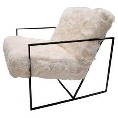 Ziggy Chair by JG Switzer in White Sheep Fur