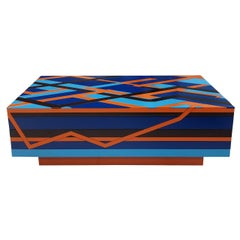 """Ziggy"" Contemporary Brazilian Style Coffee Table Handmade"