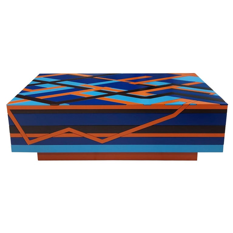 """Ziggy"" Coffee Table  Handmade Contemporary Unique Style  Customized Product For Sale"
