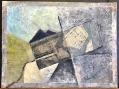 APARTMENT FOR SALE:15-E, Abstract Mixed Media Collage, Real Estate Listing