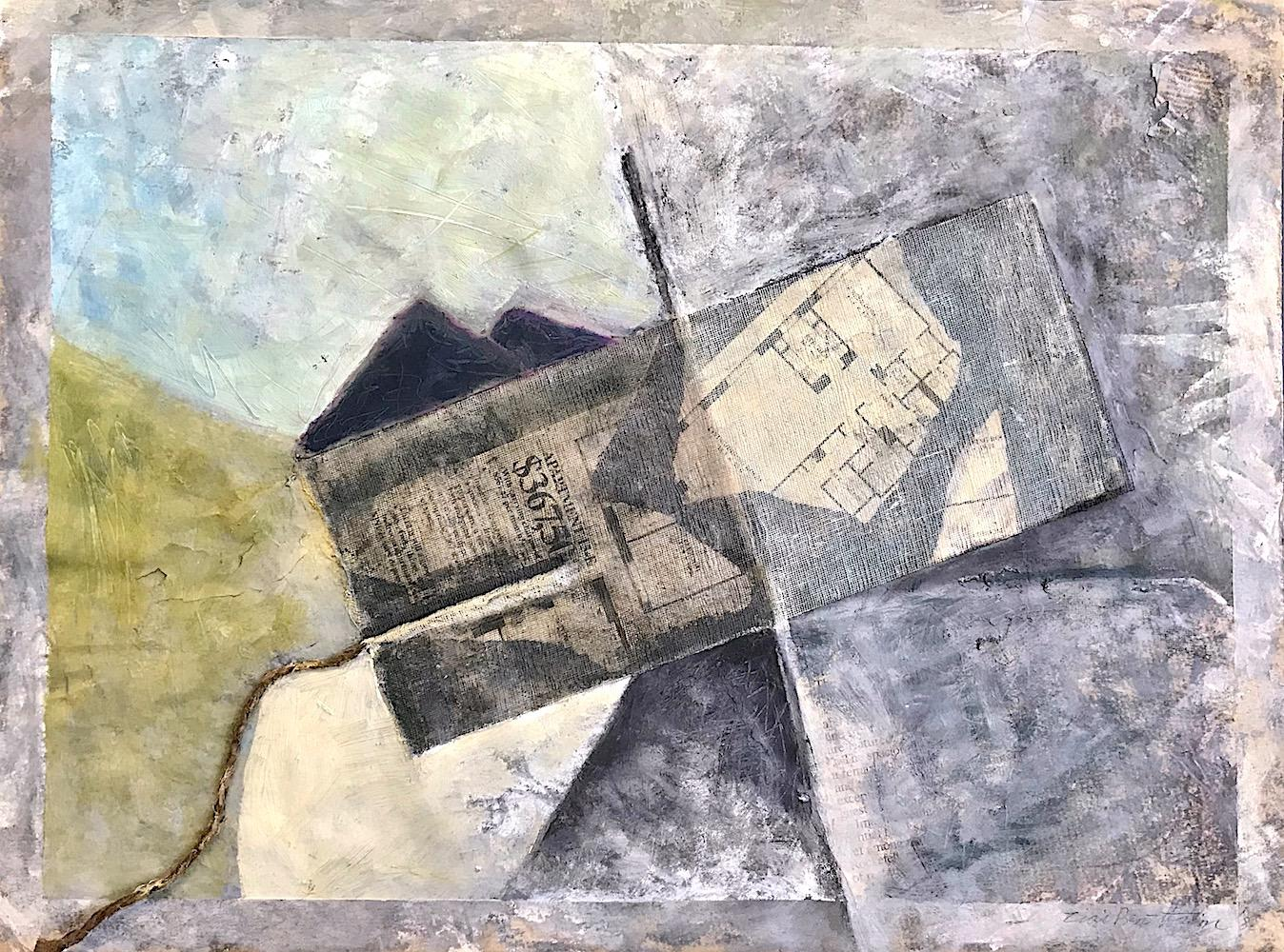 APARTMENT FOR SALE:15-E, Abstract Mixed Media 3-D Collage, Real Estate Listing