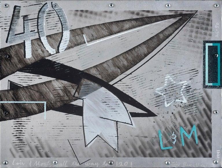 Lois & Morty all the way to 1201 - Mixed Media Art by Zigi Ben-Haim