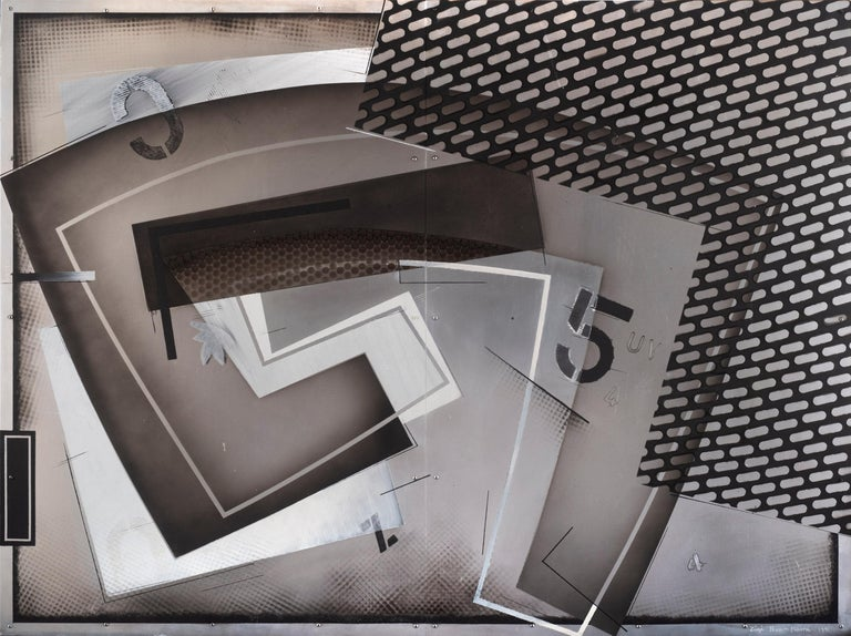 Zigi Ben-Haim Abstract Painting - Untitled, 1991
