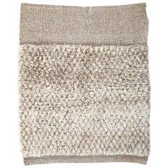 Zickzack und Streifen Handgewebter Traditioneller Marokkanischer Stil Wolle Berber Teppich