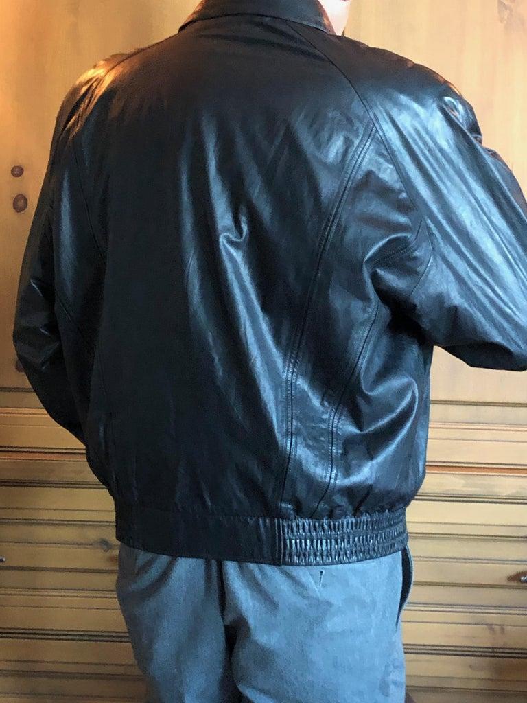 Zilli France for Harrods London Scarf Silk Lined Lambskin Zip Front Jacket For Sale 7
