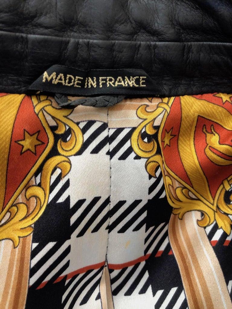 Zilli France for Harrods London Scarf Silk Lined Lambskin Zip Front Jacket.