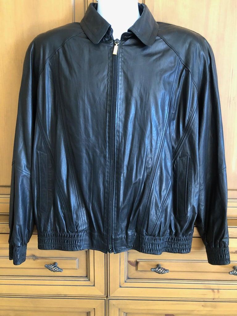 Zilli France for Harrods London Scarf Silk Lined Lambskin Zip Front Jacket For Sale 1