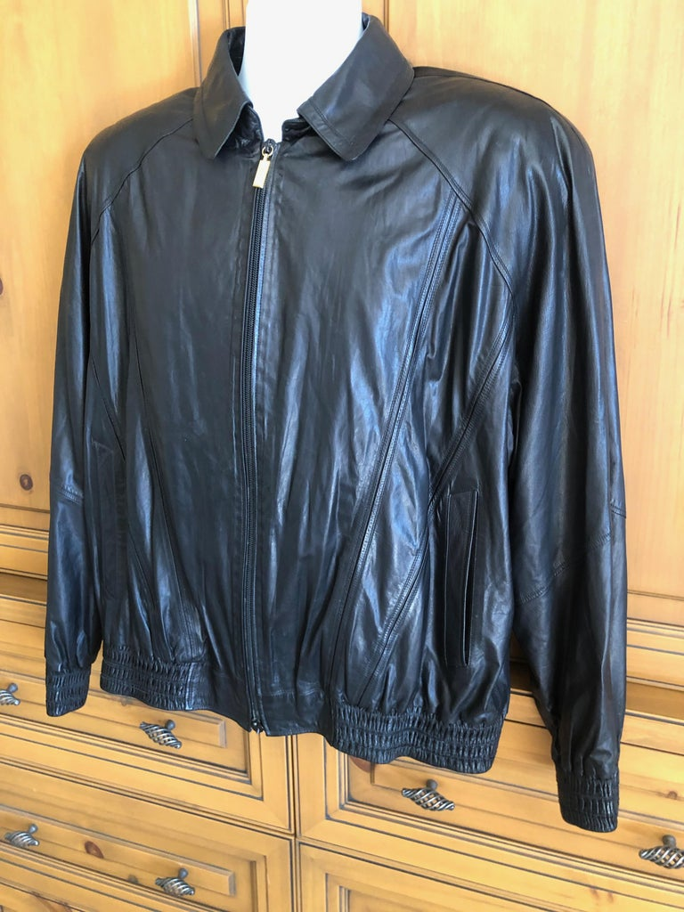 Zilli France for Harrods London Scarf Silk Lined Lambskin Zip Front Jacket For Sale 4