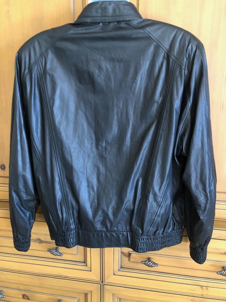 Zilli France for Harrods London Scarf Silk Lined Lambskin Zip Front Jacket For Sale 5