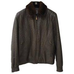 Zilli Nolot Marron Ostrich Leather Fur Jacket