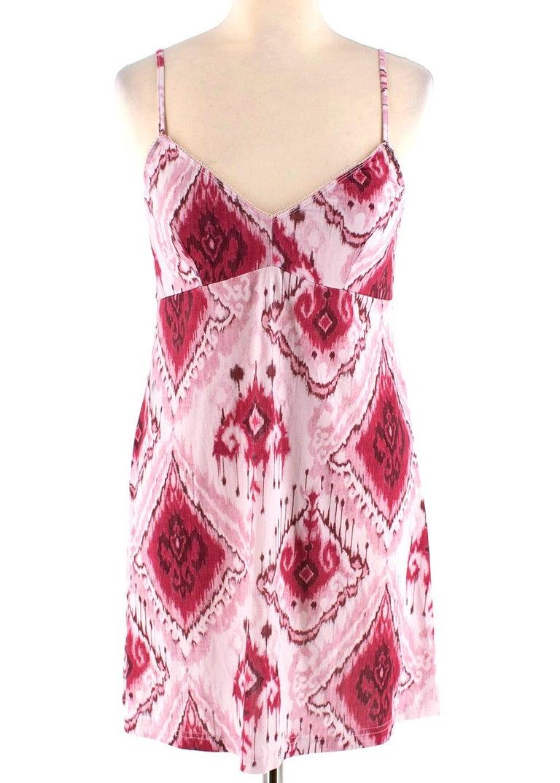 Women's Zimmerman Pink Spliced Ikat Print Mini Dress  2