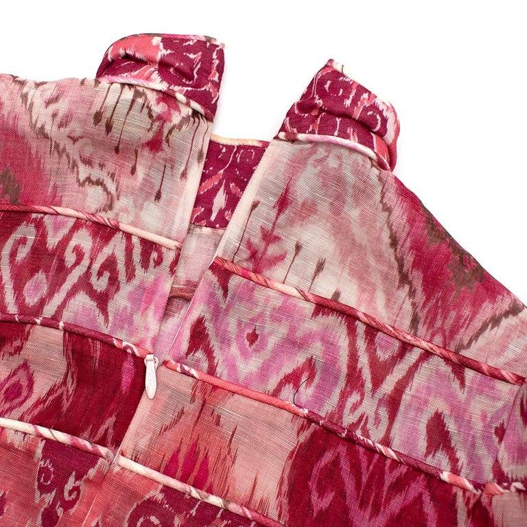 Zimmerman Pink Spliced Ikat Print Mini Dress  2  4