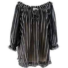 Zimmermann Aerial fringe-trimmed striped cotton-gauze tunic XS
