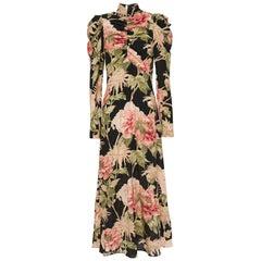 Zimmermann Espionage Ruched Floral Print Stretch Silk Midi Dress