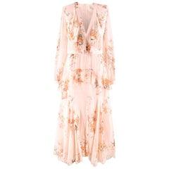 Zimmermann Floral-print Ruffled Silk Maxi Dress SIZE 1