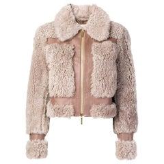 Zimmermann Front Zip Shearling Winter Jacket AU0 US2-4