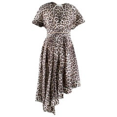 Zimmermann Leopard Print Asymmetrical Dress XXS