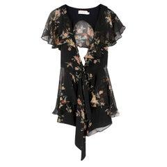 Zimmermann Maples Black Floral Silk Playsuit - Size XS