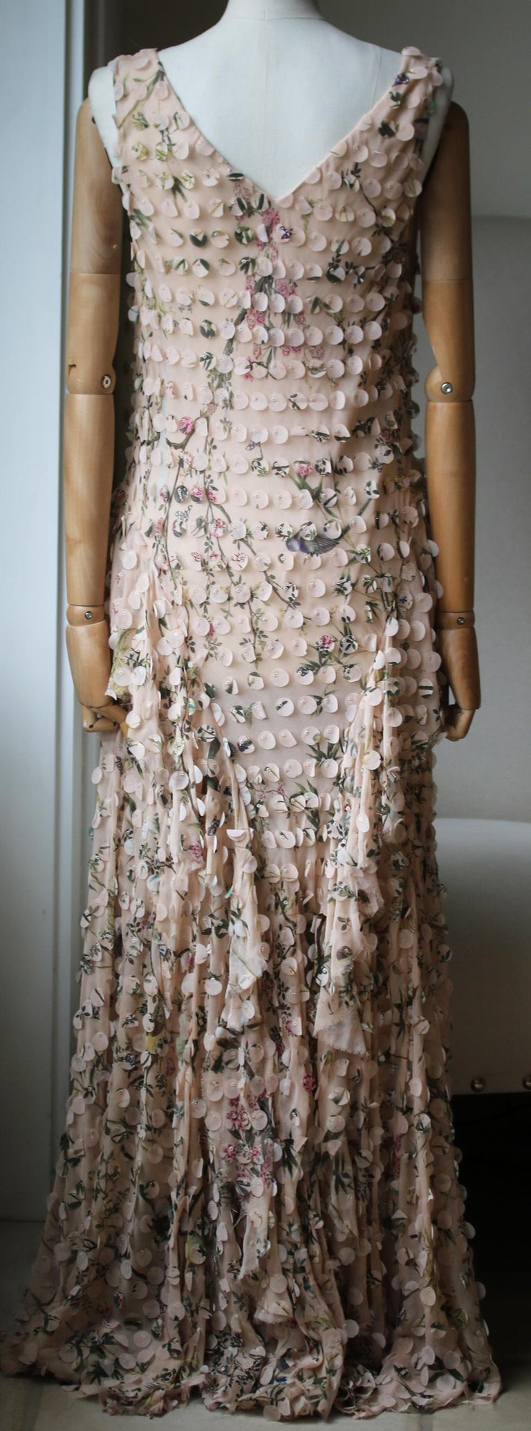 Zimmermann Maples Whisper Appliquéd Printed Silk Midi Dress In Excellent Condition For Sale In London, GB