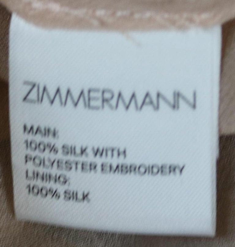Zimmermann Maples Whisper Appliquéd Printed Silk Midi Dress For Sale 1
