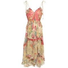 Zimmermann Melody Floral-Print Silk-Georgette Midi Dress