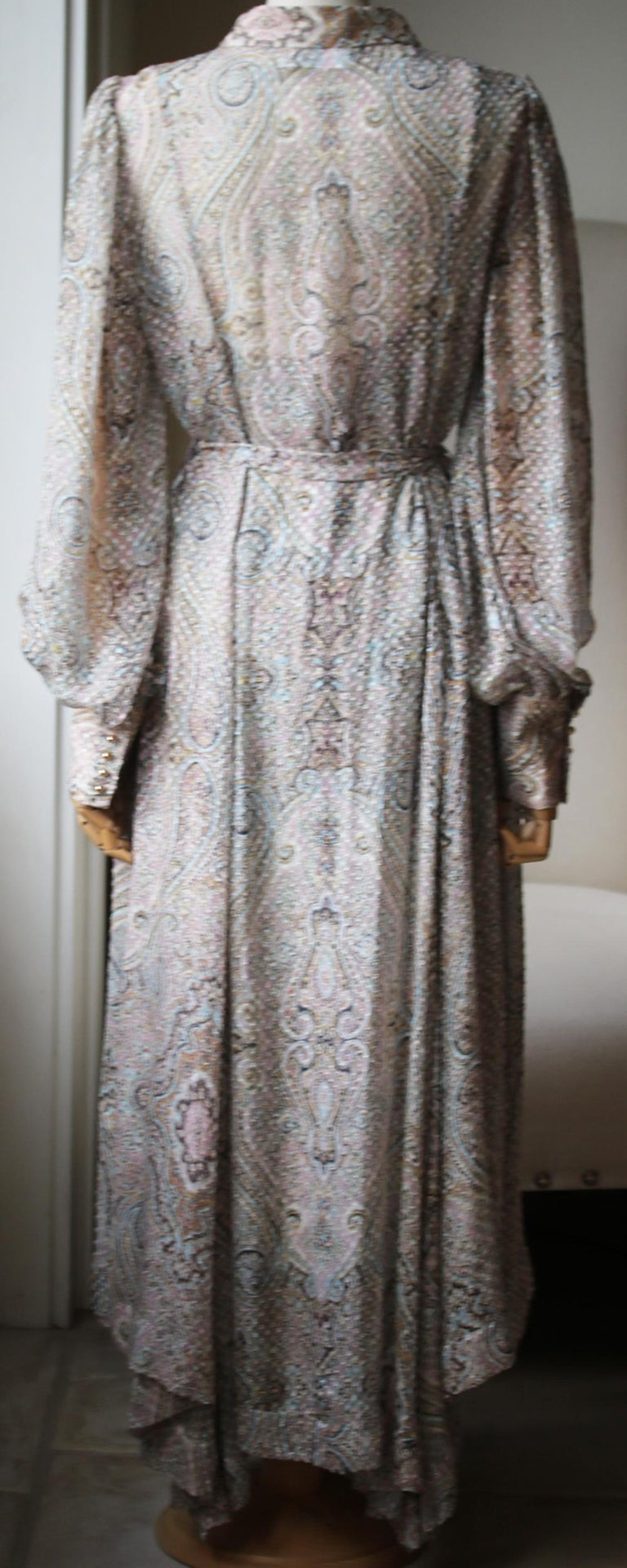 Zimmermann Paisley-Print Belted Midi Dress  In Excellent Condition For Sale In London, GB