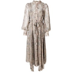 Zimmermann Paisley-Print Belted Midi Dress