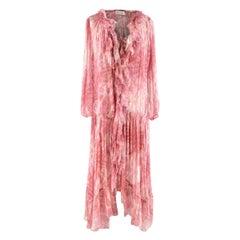 Zimmermann Pink&Cream Silk Long Dress - Us size 6