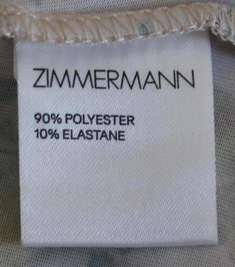 Zimmermann Ruffled Printed Silk-Georgette Midi Dress  For Sale 1